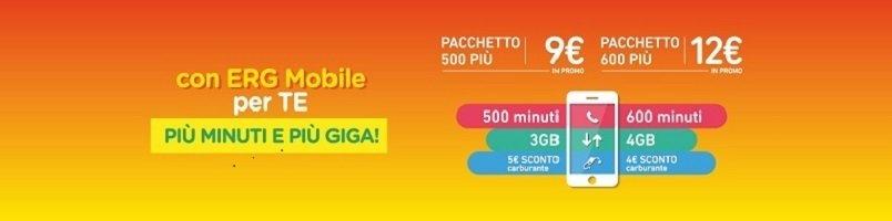 Arrivano i nuovi Pacchetti ERG Mobile: traffico e carburante per tutti