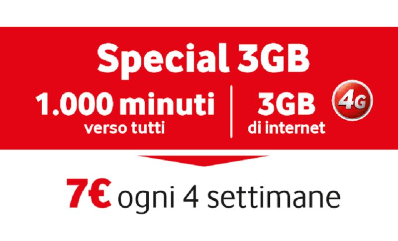 Vodafone ripropone alcune offerte Special