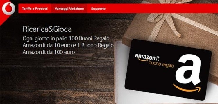 Vodafone mette in palio 100 buoni Amazon
