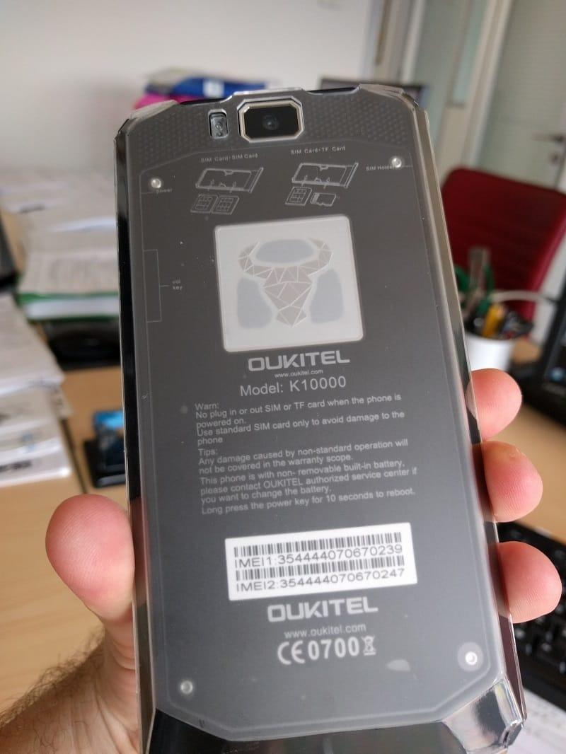 Oukitel K10000 il telefono dalla batteria illimitata