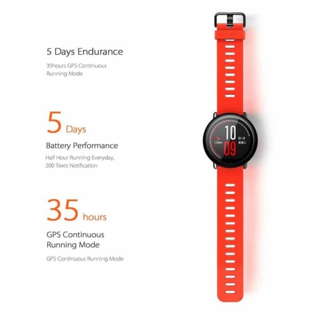 durata batteria Xiaomi mi smartwatch