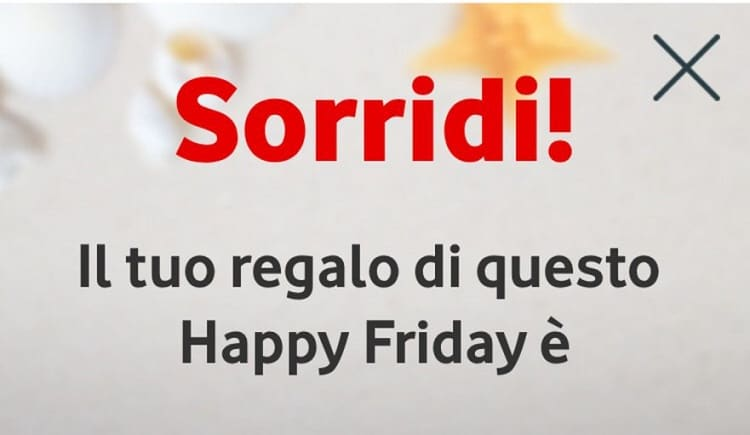 Vodafone festeggia Happy Friday con voi