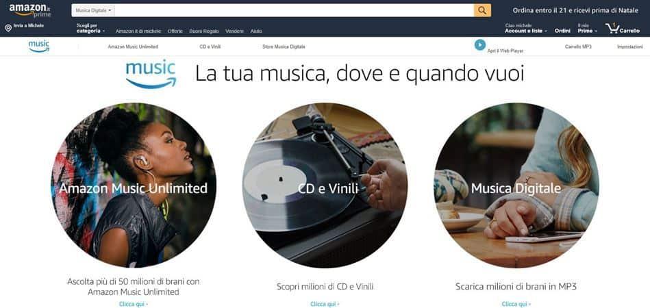 accedere ad Amazon Music Unlimited