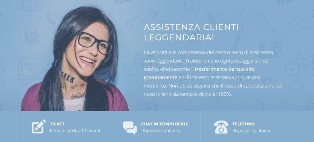 assistenza clienti siteground