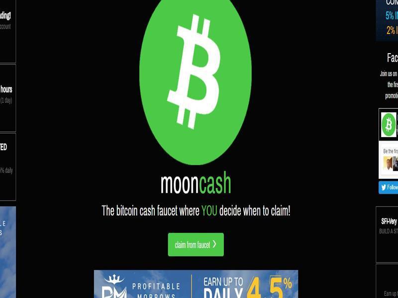 mooncash bitcoin cash gratis
