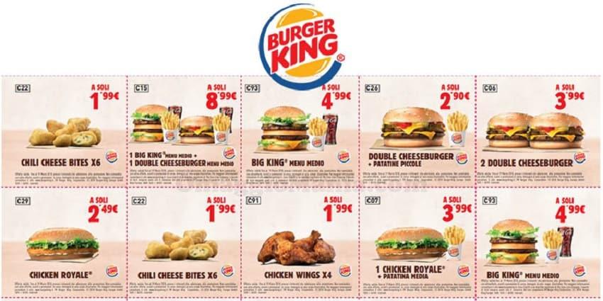 Buoni sconti da Burger King con sconti del 40%