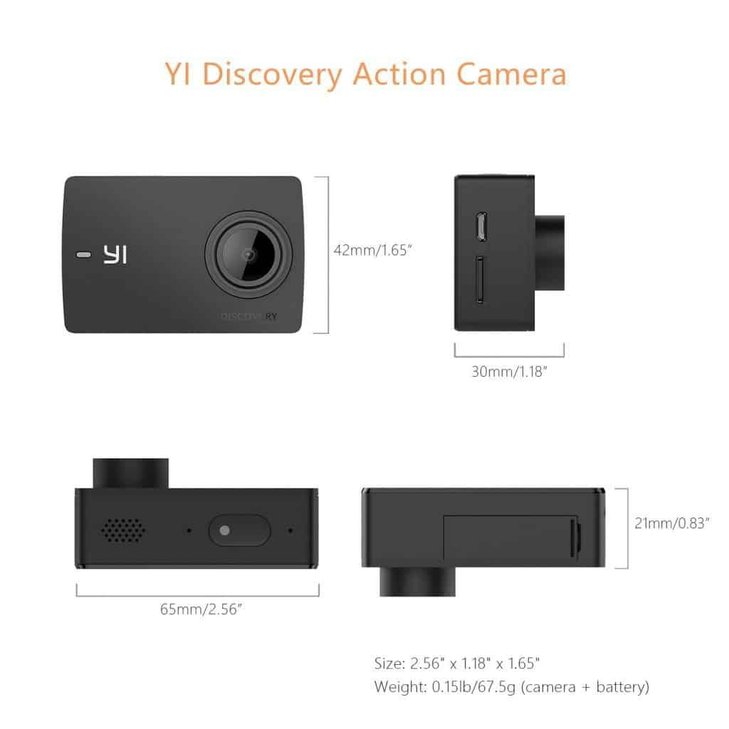 scheda tecnica yi discovery 4k