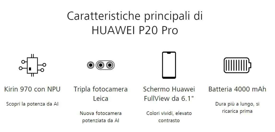 specifiche huawei p20 pro