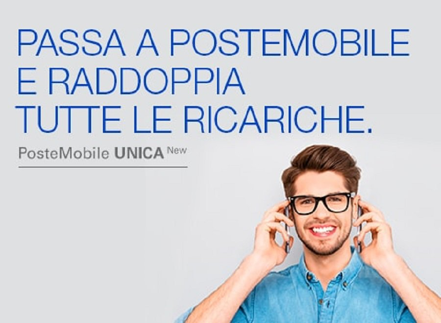 PosteMobile Unica New regala 50 euro di ricarica