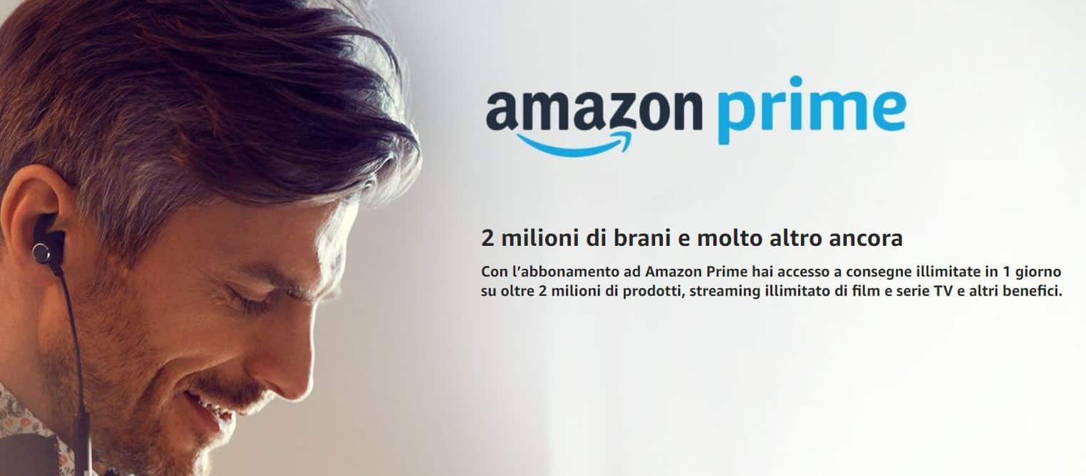 amazon prime music - 2 milioni di brani senza pubblicità