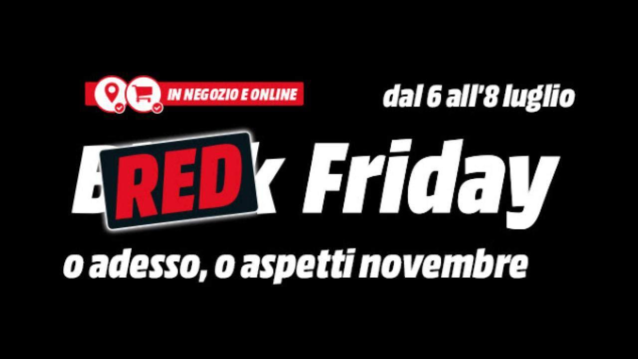 Mediaworld: al via il Red Friday di forti sconti