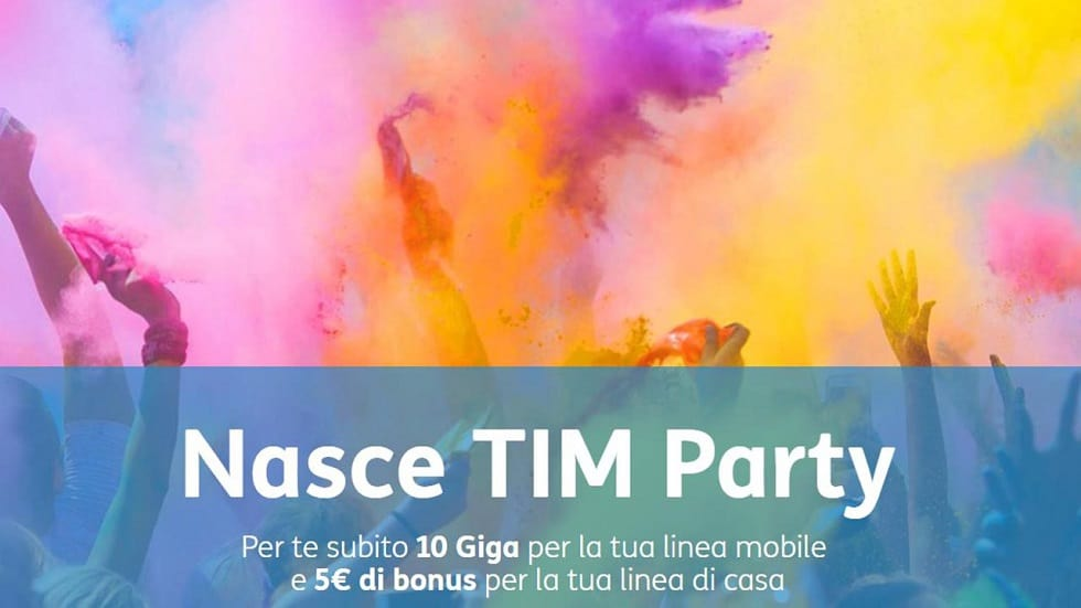 Tim Party: concorso ti fa vincere 1 anno di cinema