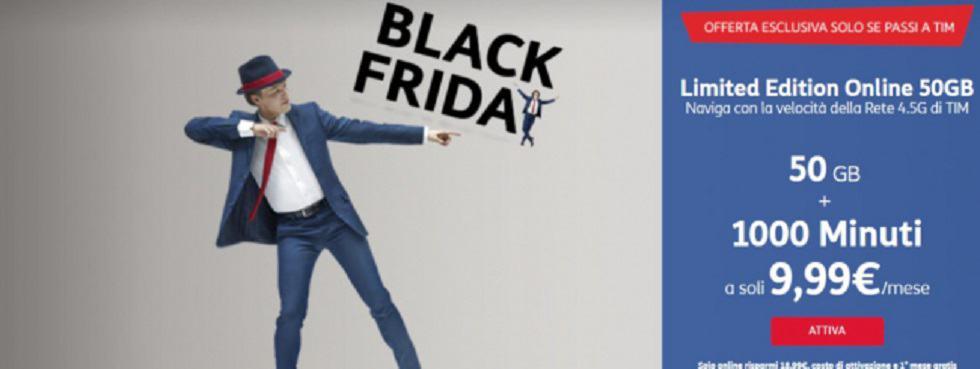 Nuova offerta Tim per il Black Friday fino al 25 novembre