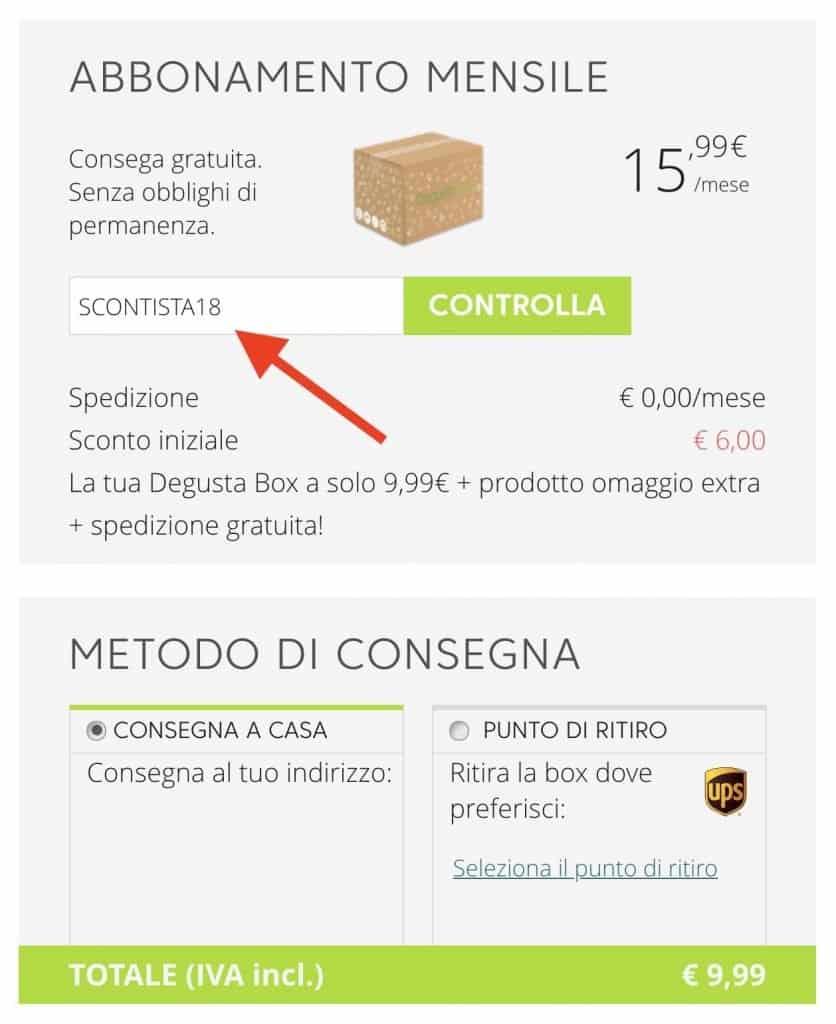 codice sconto degustabox gratis