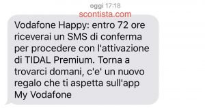 Vodafone Happy New Year gratis 6 mesi di Tidal Premium