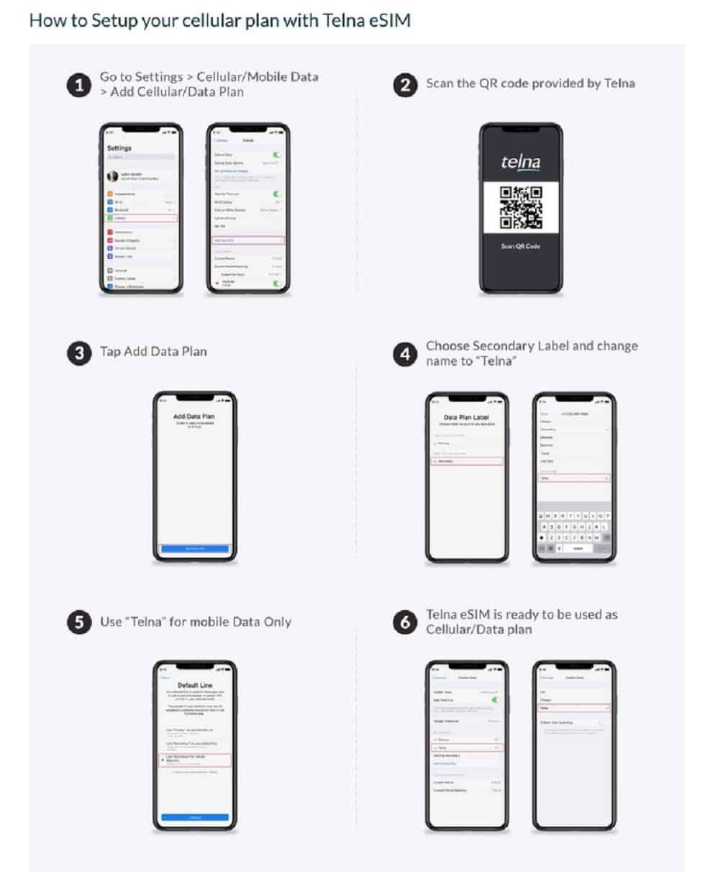 Telna presenta l'offerta eSIM con codice QR per iPhone
