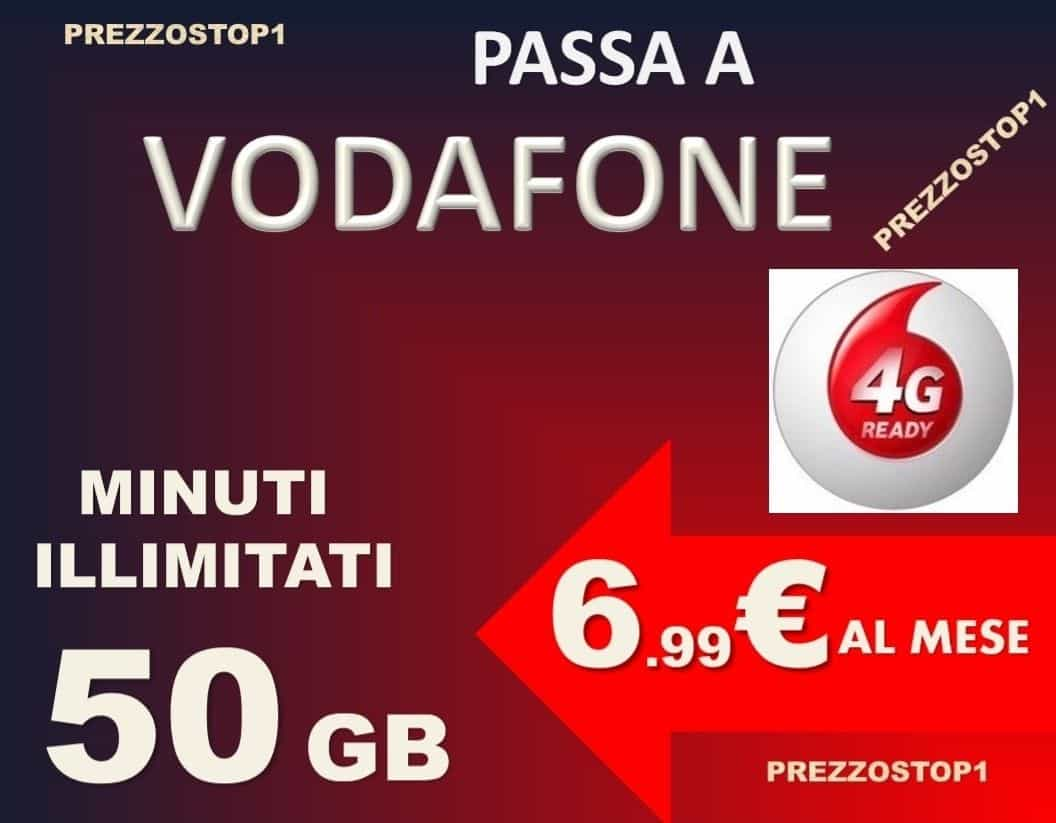 Torna Vodafone Special Minuti 50GB a 6,99€