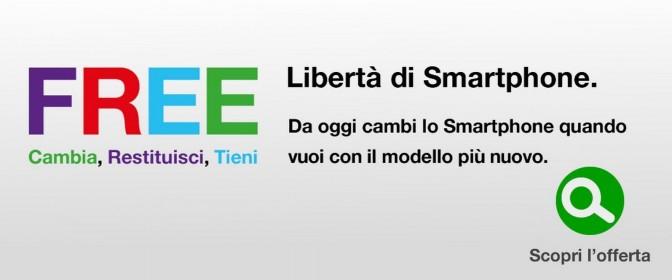 Tre Free Power con zero anticipi e cambio smartphone