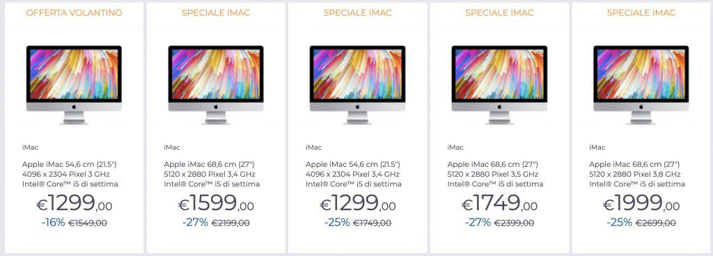 speciale unieuro apple imac