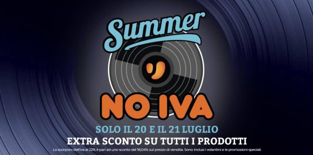 Unieuro: Summer No Iva il 20 e 21 luglio 2019