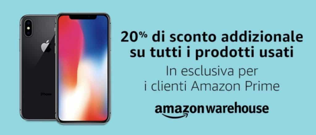 Prime Day 2019: 20% di sconto addizionale su Amazon Warehouse
