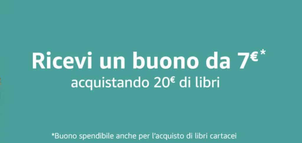 Amazon buono da 7 euro acquistando almeno 20 euro di libri
