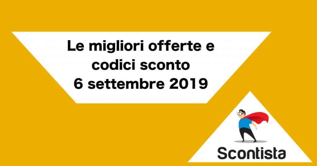 offerte coupon 6 settembre 2019