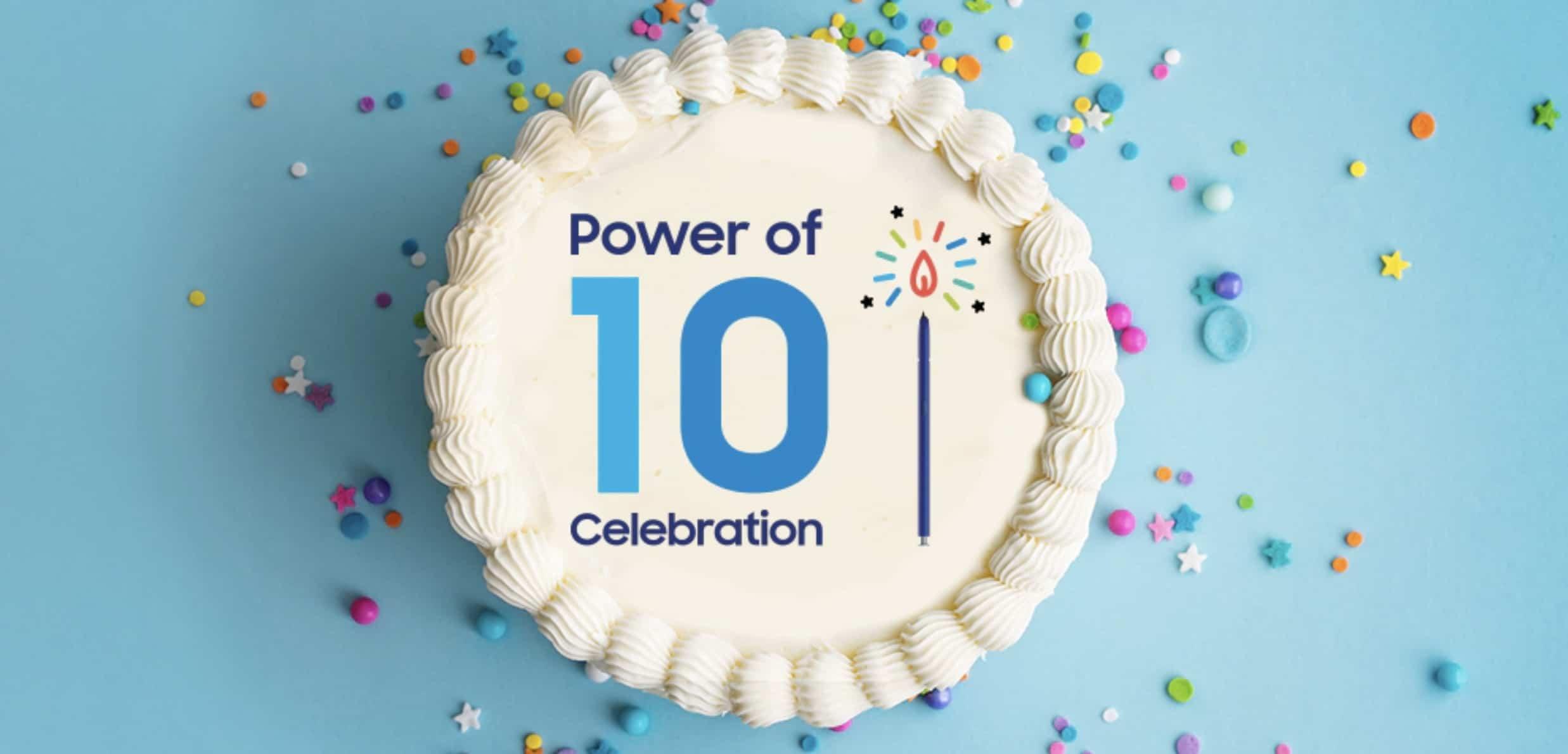 Compleanno Galaxy 10 anni