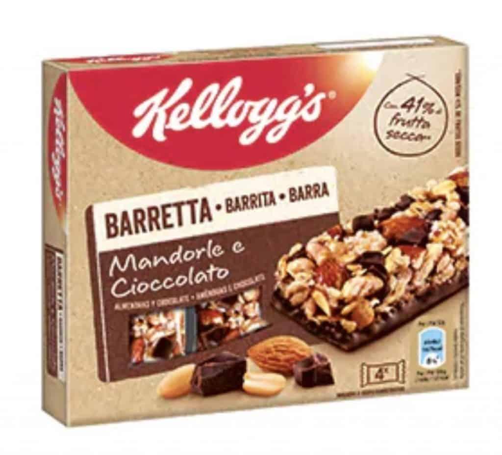 Kellogg's Barretta Mandorle e Cioccolato 4x32g