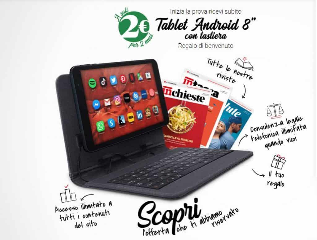 Prova Altroconsumo a soli 2€ un tablet in omaggio