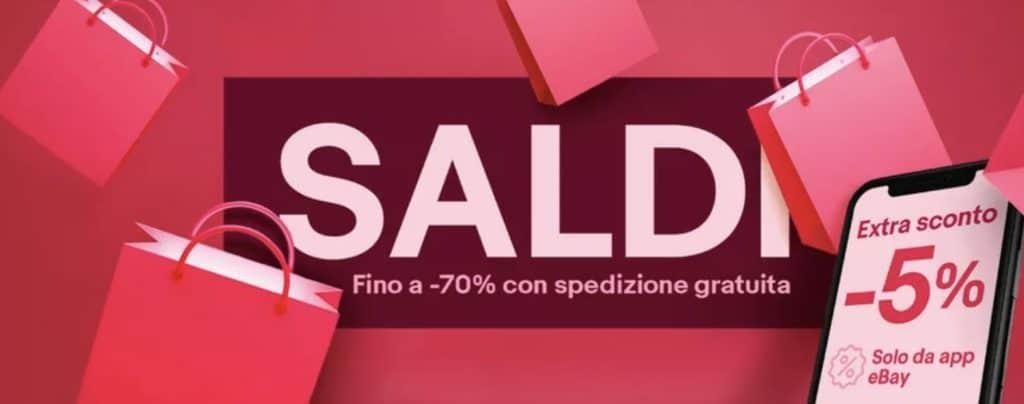 eBay sconto del 5% con il coupon PITSALDIAPP