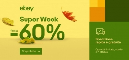 eBay Super Week fino al 1 ottobre