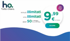 ho. Mobile: minuti e SMS illimitati e 50 GB a 9,99€