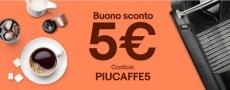 Codice sconto eBay PIUCAFFE5 – 5 Euro di sconto su capsule e cialde