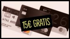 Recensione carta N26 e come ottenere 15 euro gratis