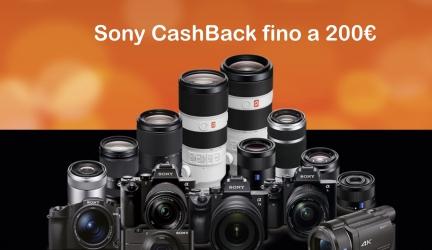 Sony CashBack fino a 200 euro