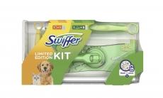 Swiffer Duster Panni Catturapolvere, 9 Pezzi + 1 Spazzolone + 1 Piumino Elettrostatico