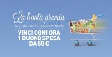 """Ogni ora vinci buoni spesa da 50€ con Nestlé """"La bontà premia"""""""