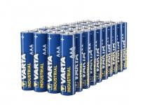 Varta Confezione Industrial 40 Batterie Alcaline, Tipo AAA