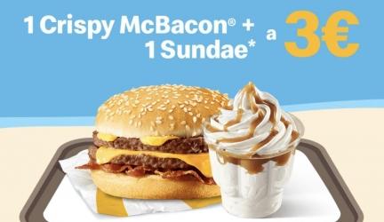 McDonald's Summerdays 2019: Crispy McBacon + Sundae a soli 3€