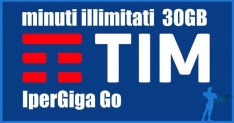 TIM IperGiga Go: minuti illimitati e 30GB di internet