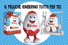 Kinder e Ferrero: vinci 100 Peluche Kinderino ogni giorno