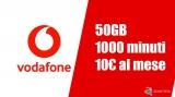 Vodafone 50GB e 1000 minuti verso tutti